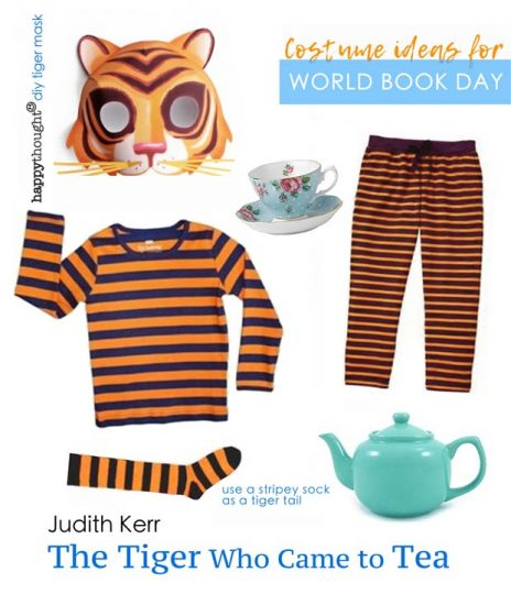 The tiger who came to tea easy mask and costume idea