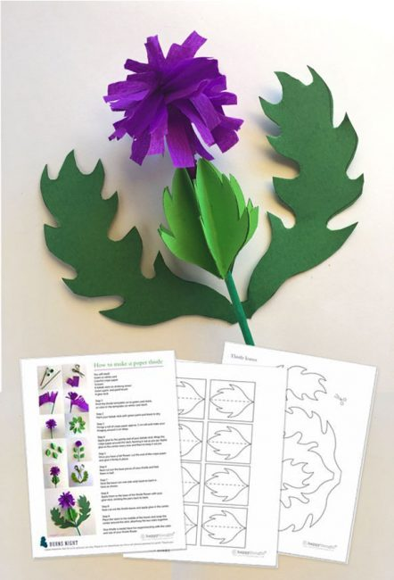 Thistle freebie papercraft template instructions tutorial