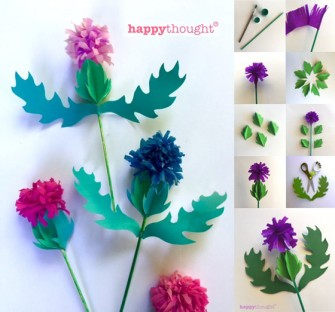 How to make a paper thistle