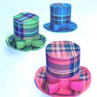 Three Tartan mini top hat designs to download and make!