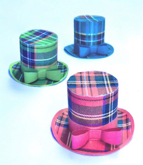 Three Tartan mini top hat designs to download and make!