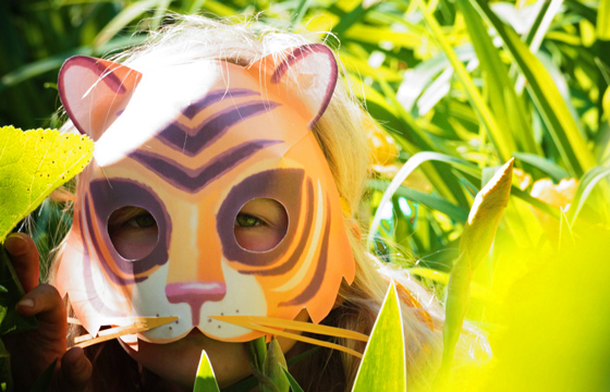 Make your own animal masks: Printable tiger mask patterns!