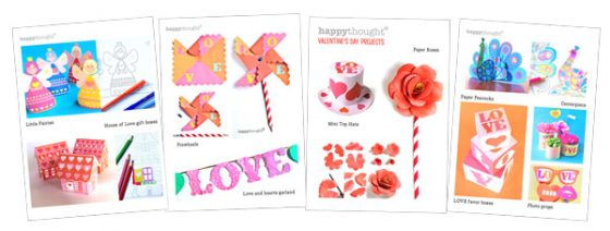Lots of craft art project ideas and templates foe a Valentines Day gift