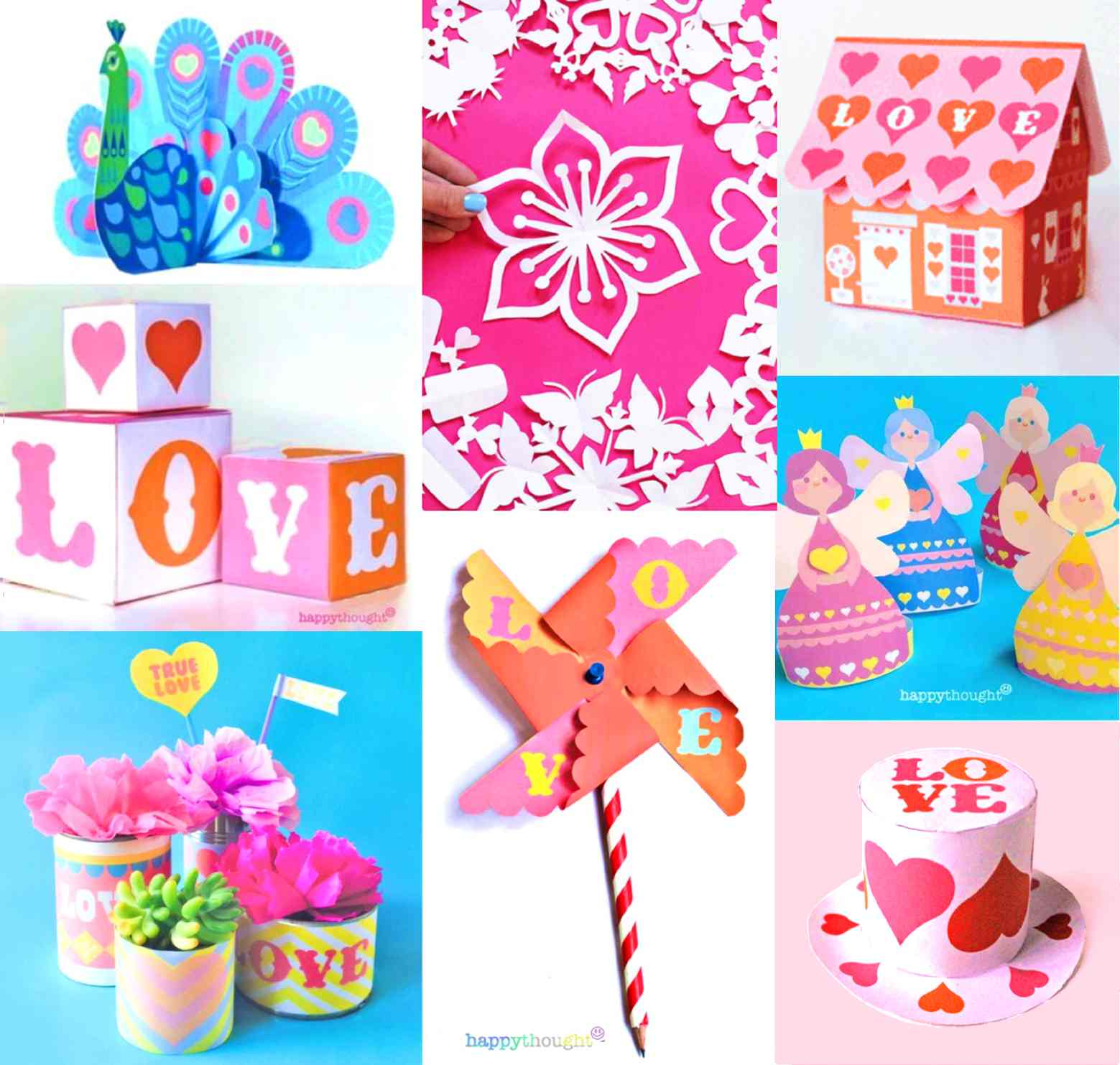 DIY paper crafts for Valentine's Day