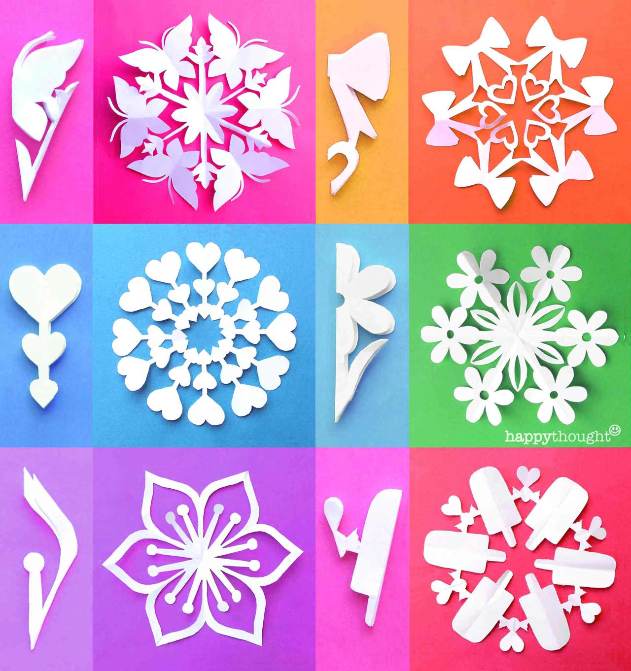 12 Valentine snowflake templates - valentine-snowflake patterns designs templates DIY craft decoration