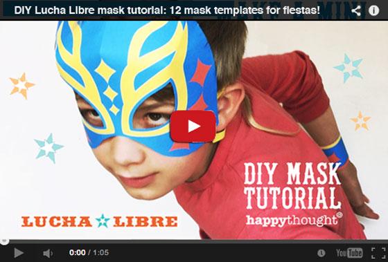 Lucha Libre paper mask tutorial!