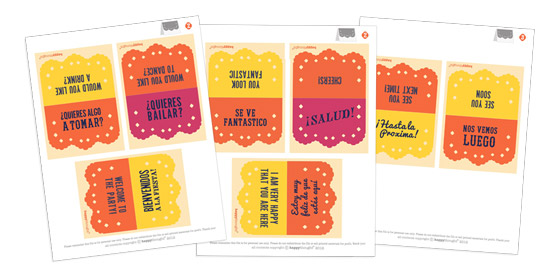Day of the Dead vocabulary ideas: Spanish cue card templates and cutouts for parties!