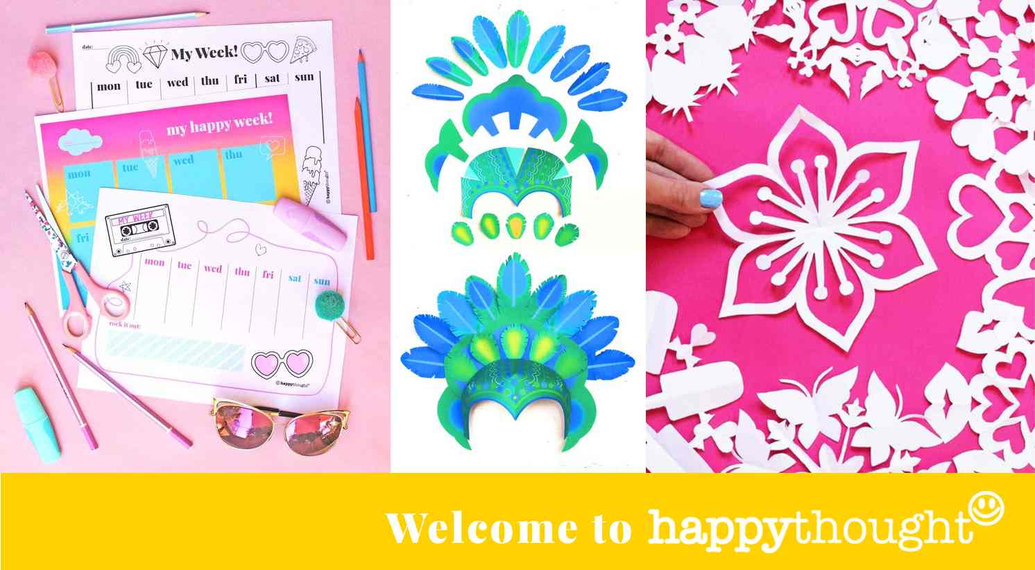 Happythought PDFs, templates and printable craft activities
