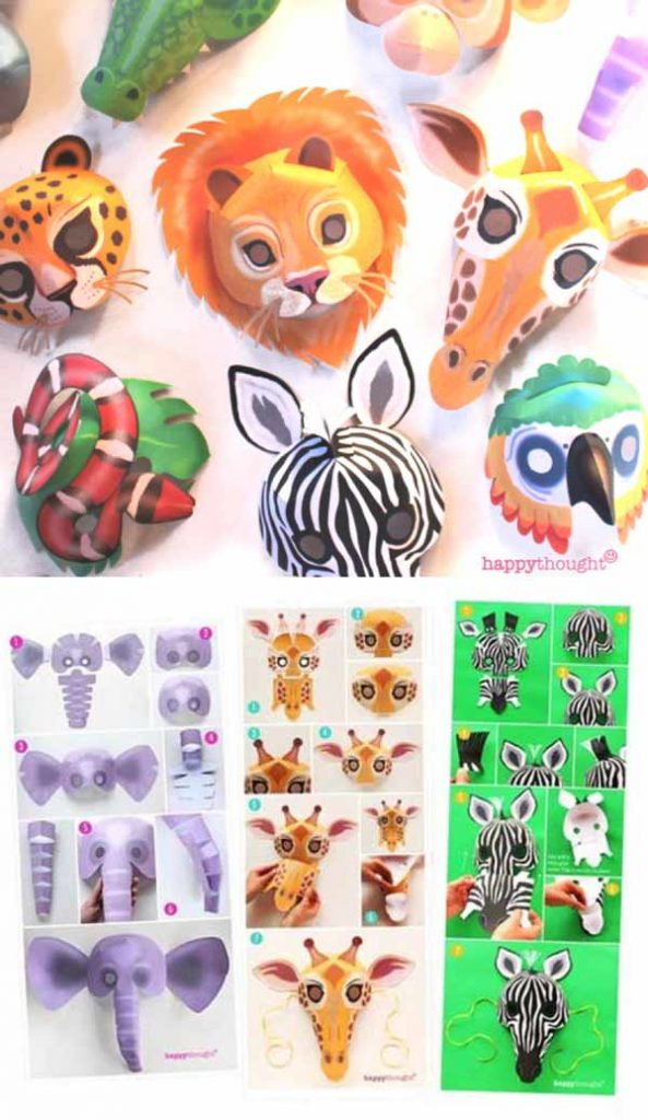 Wild animal mask printable mask templates craft activity